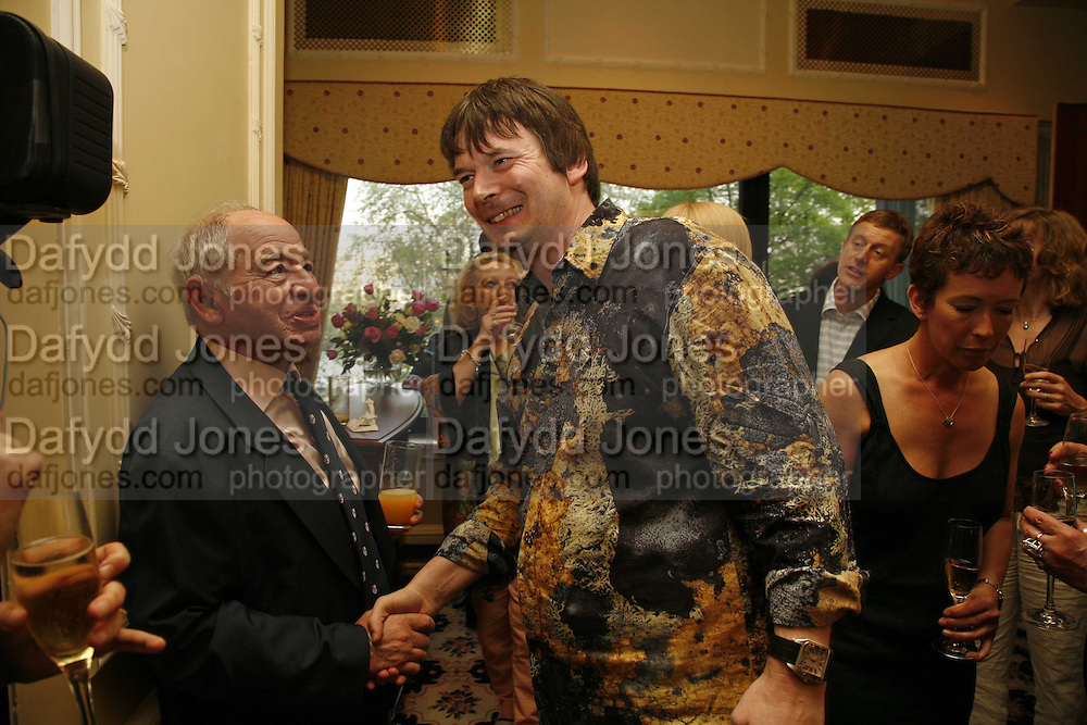Colin Dexter and Ian Rankin, 2006 Cartier CWA Diamond Dagger Awards,  The Savoy, London. 10 May 2006.  Elmore Leonard receives Crime Writers' Association award recognising an outstanding contribution to the genre. ONE TIME USE ONLY - DO NOT ARCHIVE  © Copyright Photograph by Dafydd Jones 66 Stockwell Park Rd. London SW9 0DA Tel 020 7733 0108 www.dafjones.com