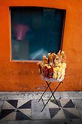 Selling Food on the Street in Puebla