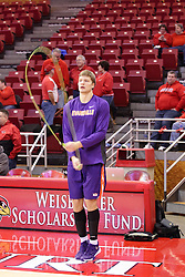 15 January 2016: Egidijus Mockevicius(55) warms up jumping rope before the Illinois State Redbirds v Evansville Purple Aces at Redbird Arena in Normal Illinois (Photo by Alan Look)