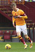 Mark O'Hara (Motherwell) during the Scottish Premiership match between Motherwell and Celtic at Fir Park, Motherwell, Scotland on 8 November 2020.