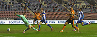Hull City's Josh Magennis scores his team's 4th goal<br /> <br /> Photographer Dave Howarth/CameraSport<br /> <br /> The EFL Sky Bet League One - Wigan Athletic v Hull City - Wednesday 17th February 2021 - DW Stadium - Wigan<br /> <br /> World Copyright © 2021 CameraSport. All rights reserved. 43 Linden Ave. Countesthorpe. Leicester. England. LE8 5PG - Tel: +44 (0) 116 277 4147 - admin@camerasport.com - www.camerasport.com