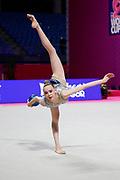 Sarioglu Nilgun during the Pesaro World Championships at the Virtifrigo Arena on May 28-28, 2021.<br /> She is a Turkish individual rhythmic gymnast born in 2004 in Antalya.