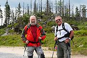 Wanderer, Dreisesselberg, Bayerischer Wald, Bayern, Deutschland | walkers, Mt. Dreisessel, Bavarian Forest, Bavaria, Germany