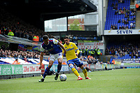 Leeds United's Pablo Hernandez battles with  Ipswich Town's Myles Kenlock<br /> <br /> Photographer Hannah Fountain/CameraSport<br /> <br /> The EFL Sky Bet Championship - Ipswich Town v Leeds United - Sunday 5th May 2019 - Portman Road - Ipswich<br /> <br /> World Copyright © 2019 CameraSport. All rights reserved. 43 Linden Ave. Countesthorpe. Leicester. England. LE8 5PG - Tel: +44 (0) 116 277 4147 - admin@camerasport.com - www.camerasport.com