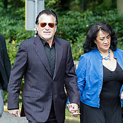 NLD/Leusden/20120920- Uitvaart Joop van Tellingen, George Baker en partner Blanche