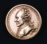 Joseph Jerome Lefrancais de Lalande, French astronomer, 19th century. Lalande (1732-1807) was professor of astronomy at the College de France for 46 years from 1760, and in 1768 he was appointed director of the Paris Observatory. Obverse of a commemorative medal.