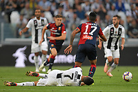 Cristiano Ronaldo of Juventus receives a foul from Cristian Romero of Genoa during the Serie A 2018/2019 football match between Juventus and Genoa CFC at Allianz Stadium, Turin, October, 20, 2018 <br />  Foto Andrea Staccioli / Insidefoto