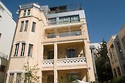 Israel, Tel Aviv, renovated Eclectic style building at 18 Yokhanan Hasandlar street