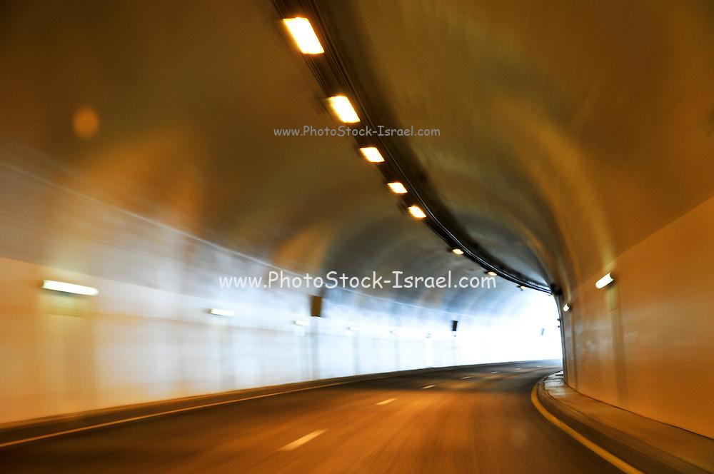 Israel, Modern highway, a tunnel on the Afula Nazareth highway