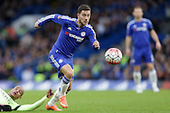 Eden Hazard of Chelsea in action. The Emirates FA Cup, 5th round match, Chelsea v Manchester city at Stamford Bridge in London on Sunday 21st Feb 2016.<br /> pic by John Patrick Fletcher, Andrew Orchard sports photography.