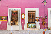 Items on display at the Sunday antiques market in the Barrio Antiguo or Spanish Quarter neighborhood adjacent to the Macroplaza Grand Plaza in Monterrey, Nuevo Leon, Mexico.