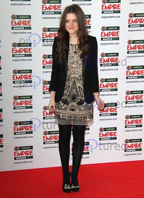 Georgie Henley Jameson Empire Awards, Grosvenor House Hotel, Park Lane, London, UK, 27 March 2011:  Contact: Rich@Piqtured.com +44(0)7941 079620 (Picture by Richard Goldschmidt)