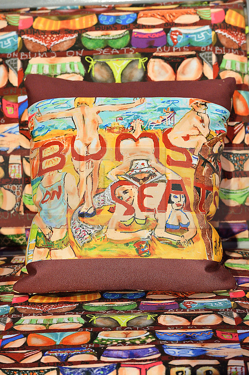 © Licensed to London News Pictures. 29/02/2016. Beach and seaside themed chair designed by MAUREEN LIPMAN for the Bonham's Chair Auction for Chiva African Aids Charity. London, UK. Photo credit: Ray Tang/LNP