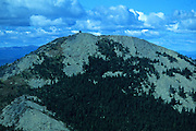 Aerial view of Mount Henry in summer. Mount Henry Roadless Area in the Purcell Mountains, northwest Montana
