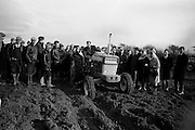 National Ploughing Championships at Tullow, Co. Carlow.  James Murphy, Carlow, winner of the Supreme Award, with his Ford tractor..26.10.1967