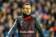 Santi Cazorla (#19) of Villarreal CF warms up during the Europa League group stage match between Rangers FC and Villareal CF at Ibrox, Glasgow, Scotland on 29 November 2018.