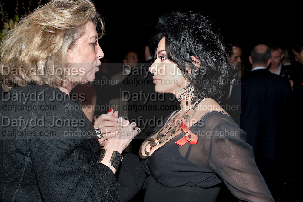 MARIE-CLAIRE BARONESS VON ALVENLEBEN; NANCY DELL D'OLIO, Annual Lighthouse Gala Auction in aid of the Terrence Higgins Trust.  Christie's, King St. London. 21 March 2011. .-DO NOT ARCHIVE-© Copyright Photograph by Dafydd Jones. 248 Clapham Rd. London SW9 0PZ. Tel 0207 820 0771. www.dafjones.com.