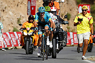 Nikita Stalnov (KAZ - Astana Pro Team) - Benjamin King (USA - Dimension Data) during the UCI World Tour, Tour of Spain (Vuelta) 2018, Stage 4, Velez Malaga - Alfacar Sierra de la Alfaguara 161,4 km in Spain, on August 28th, 2018 - Photo Luca Bettini / BettiniPhoto / ProSportsImages / DPPI