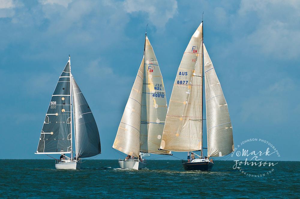 Sailing on Moreton Bay, Queensland, Australia