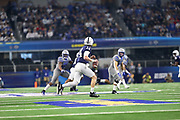 Penn State Nittany Lions quarterback Sean Clifford (14) looks to throw the ball down field during the game of the NCAA Cotton Bowl Classic football game against the Memphis Tigers, Saturday, Dec. 28, 2019 at AT&T Stadium in Arlington, Texas. Penn State defeated Memphis 53-39. (Mario Terrana/Image of Sport)