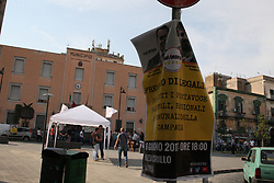 June 16, 2017 - Casoria, Campania/Napoli, Italy - M5S Presidium for legality in Casoria.M5S with a garrison in Casoria, in the province of Naples, in support of Elena Vignati for a legal affair. In photos a moment of initiative of the activist (Credit Image: © Salvatore Esposito/Pacific Press via ZUMA Wire)