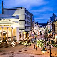 Markensgata i Kristiansand klar for julen.<br /> Markens street in Kristiansand ready for christmas.