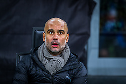 November 6, 2019, Milano, Italy: josep guardiola coach (manchester city)during Tournament round, group C, Atalanta vs Manchester City, Soccer Champions League Men Championship in Milano, Italy, November 06 2019 - LPS/Fabrizio Carabelli (Credit Image: © Fabrizio Carabelli/LPS via ZUMA Wire)