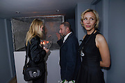 ELENA LAPTEVA; ALEXANDER BRODSKY;  MONA MACERKOVA, Calvert 22 opening party.  Calvert 22 is a foundation devoted to promoting art from eastern Europe. Calvert avenue. London E2. W1, 12 May 2009