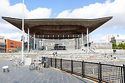 Welsh government senate building Cardiff, South Wales, UK Senedd - National Assembly for Wales 2005 Richard Rogers Partnership
