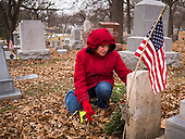 Christmas Wreaths Laid on Iowa Veterans' Headstones