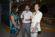 Anita Zabludowicz, MAT COLLISHAW; POLLY MORGAN, Serpentine's Summer party co-hosted with Christopher Kane. 15th Serpentine Pavilion designed by Spanish architects Selgascano. Kensington Gardens. London. 2 July 2015.