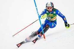 January 7, 2018 - Kranjska Gora, Gorenjska, Slovenia - Manuela Moelgg of Italy competes on course during the Slalom race at the 54th Golden Fox FIS World Cup in Kranjska Gora, Slovenia on January 7, 2018. (Credit Image: © Rok Rakun/Pacific Press via ZUMA Wire)