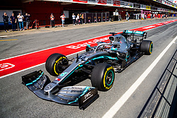 February 28, 2019 - Montmelo, Barcelona, Calatonia, Spain - Lewis Hamilton of Mercedes AMG Petronas Formula One Team seen in action during the second week F1 Test Days in Montmelo circuit, Catalonia, Spain. (Credit Image: © Javier Martinez De La Puente/SOPA Images via ZUMA Wire)