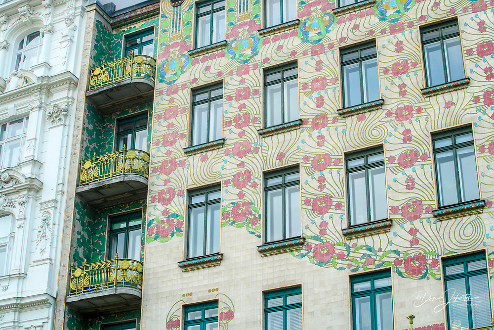 Art Nouveau building by Otto Wagner- Linke Wienzeile no 40, Vienna, Lower Austria, Austria