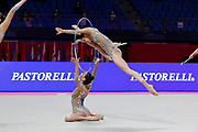 The national team of Italy during groups All Around competition at the Pesaro World Championships at Virtifigo Arena, May 29, 2021.