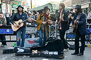 Hackney, London. Broadway market - busking