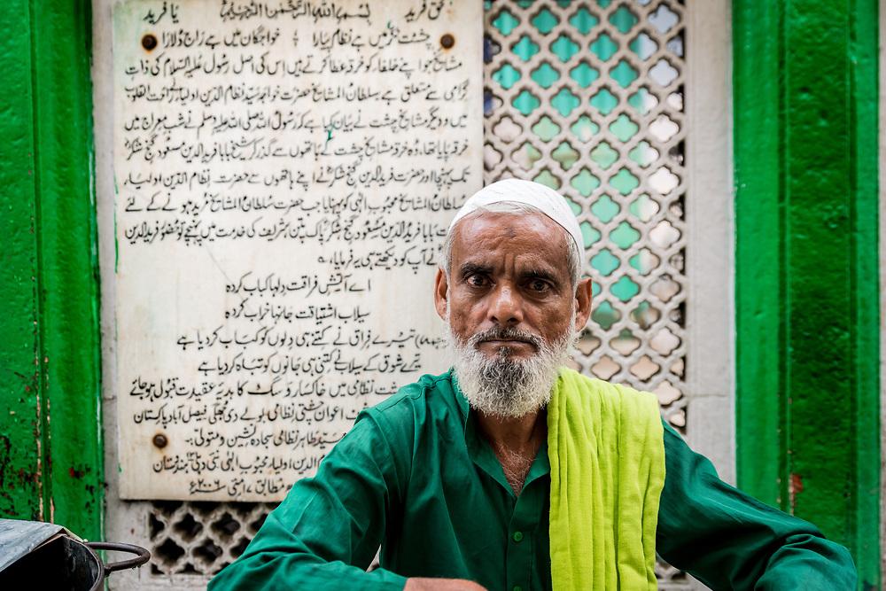 A water seller at Nizamuddin
