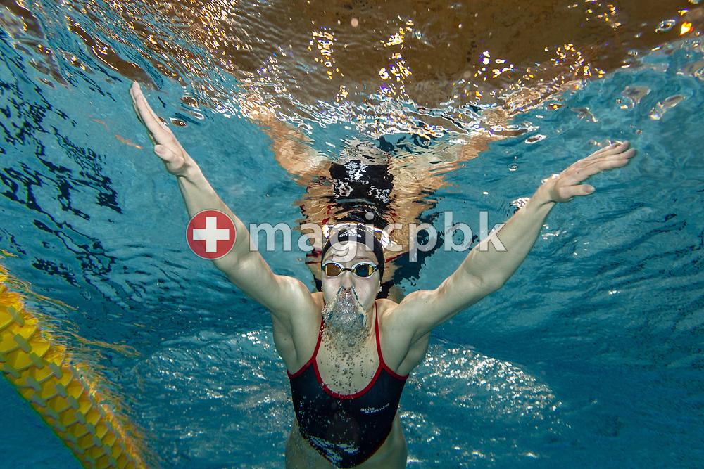 Swimmer Sara STAUDINGER of Switzerland swims breaststroke during an underwater photo session in Uster, Switzerland, Saturday, April 14, 2018. (Photo by Patrick B. Kraemer / MAGICPBK)