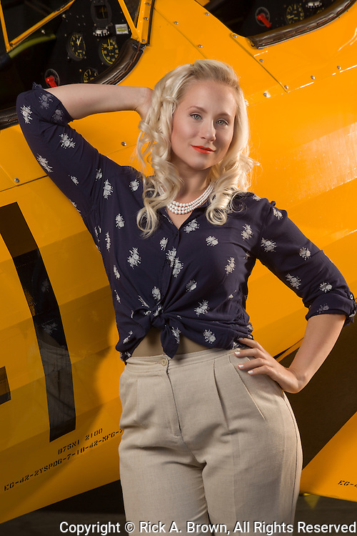 Living historian as pinup with N2S-3.