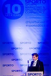 Zoran Avranovic at sports marketing and sponsorship conference Sporto 2013, on November 21, 2013 in Hotel Slovenija, Congress centre, Portoroz / Portorose, Slovenia. Photo by Vid Ponikvar / Sportida