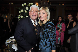 DENNIS BASSO and PRINCESS MARIE CHANTAL OF GREECE at a dinner in honour of Dennis Basso in celebration of his new boutique in Harrods held at Claridge's, Brook Street, London on 15th October 2009.