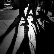 France Paris Pedestrians shadows / ombre des passant a Paris