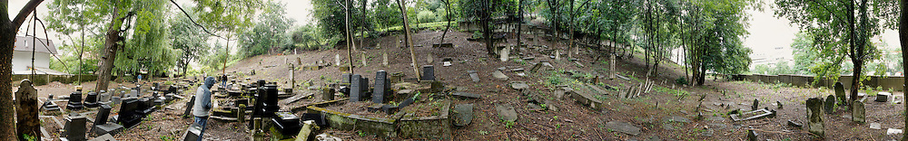 A Panorama of the Jewish Cemetery in Povazka Bystrica, Slovakia on Sunday July 3rd 2011. (Photo by Brian Garfinkel)