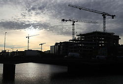 Cranes above the Dublin skyline as Finance Minister Paschal Donohoe is due to present his first budget.