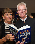 03/11/2016 Repro fee: Rita Gilligan's book The Rock 'n' Roll Waitress from The Hard Rock Cafe My Life in Hotel Meyrick, Galway was launched my Cllr. Noel Larkin Mayor of Galway. At the launch were Deirdre and Ken Hartmann Salthill<br /> <br />   Photo :Andrew Downes, XPOSURE