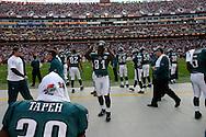 LANDOVER, MD - NOVEMBER 11: The Philadelphia Eagles Bench during the game against the Washington Redskins on November 11, 2007 at FedEx Field in Landover, Maryland. The Eagles won 33-25.