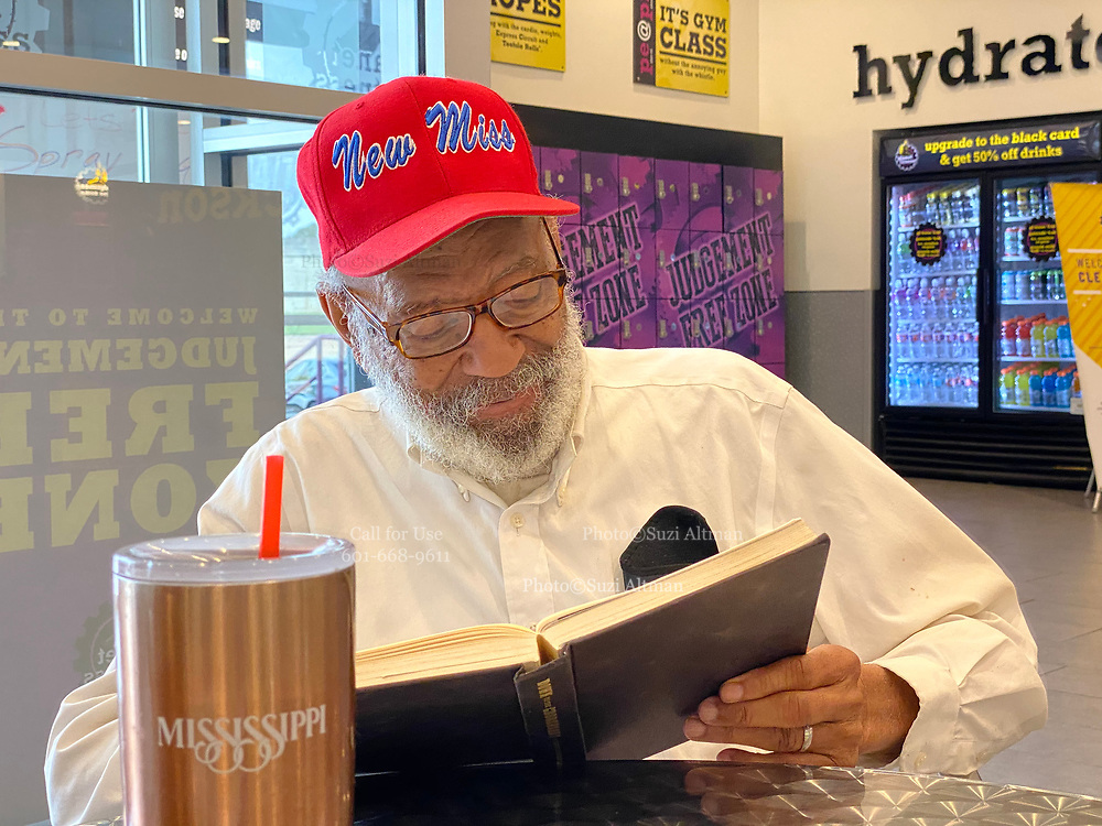 """6/10/2020 Jackson MS. <br /> Pastor Robert West,  gifted James Meredith, the first black man to attend the University of Ole Miss,  his new """" New Miss """" baseball hat about a year ago. He said """"The day James Meredith stepped onto the campus of The University of Mississippi  it was no longer """"Ole Miss""""  it ceased to exist. It was now """"New Miss"""" and Meredith should never promote the old Miss. Meredith didn't wear the hat at first, for months, because he was mad he hadn't thought of the slogan,  """"New Miss."""" Meredith now wears the """" New Miss"""" hat most days and feels Mississippi is the center of the universe and that if change is coming, and it is, It will start here first in Mississippi. <br /> The  54th Anniversary of Meredith's March Against Fear, was June 5th, and with the recent murder of another black man, George Floyd at the knees and hands of 4 former Minneapolis Minnesota police officers. Meredith's March is even more relevant now.  Meredith went on to say """"  He believes Mississippi is the most important and powerful word in the English language."""" Meredith also said he failed his race. Meredith  has completed 2 of his 3 missions from God. The first was to break the white supremacy barrier at The University of Mississippi- he did this in 1962- Kennedy used the Insurrection Act to ensure Meredith's  safety to enroll on campus. <br /> Meredith's second mission - was his March Against Fear, June of 1966. He planned to march from Memphis to Jackson Mississippi. <br /> Meredith was shot on the second day of his march by Aubrey James Norvell a member of the KKK. Norvell would later be the first white man convicted of shooting an African American in Mississippi history. His 3rd and last mission he says is his most important. Meredith will be 87 June 25th and is now embarking on his last mission from God. It is  is to heal racial divisions through honest dialogue and to foster good moral character in today's youth. Protests have broken out around the world in response to """