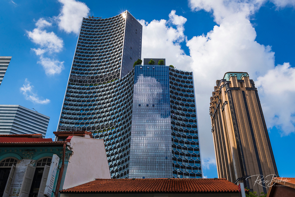 The DUO Tower and Parkview Square Hotel from Arab Street, Singapore, Republic of Singapore