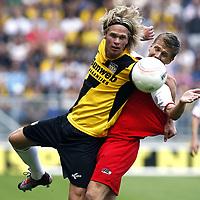 Fotball , 8. august 2010 , NAC Breda -  AZ Alkmaar <br /> <br /> <br /> kees luijckx (l), pontus wernbloom (r)<br /> <br /> Norway only