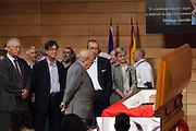 Jordi Pujol at the funeral of Santiago Carrillo